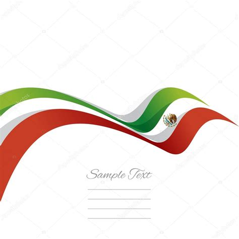 foto de Abstract cover Mexican ribbon white background vector