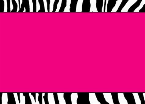 Hot Pink Zebra Template By Stacyo On Deviantart
