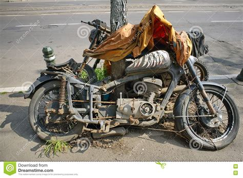Junk Motorcycle Abandoned Royalty-free Stock Photography