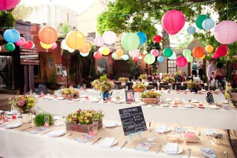 decoration mariage décoration de mariage ou de fete colorée et géométrique mariageoriginal