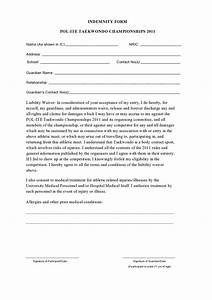 indemnity form free printable documents With indemnity waiver template