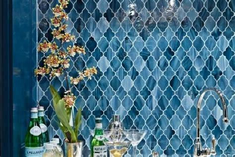 blue moroccan backsplash tile peel and stick   Yahoo Image