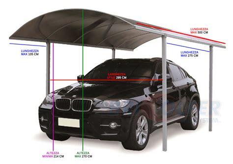 dimensione box auto pensilina auto carport tettoia copertura in plexiglass box