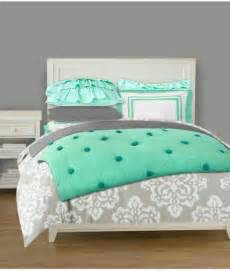 love these colors mint and grey bedding for a teen girl s