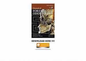 Manual Of Forensic Odontology  Full