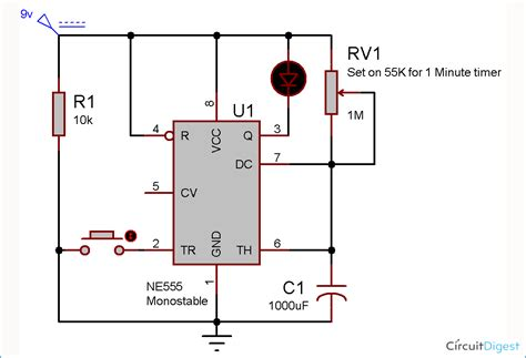 1 minute timer circuit diagram electronic circuits circuit circuit diagram diy electronics