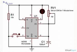 1 Minute Timer Circuit Diagram