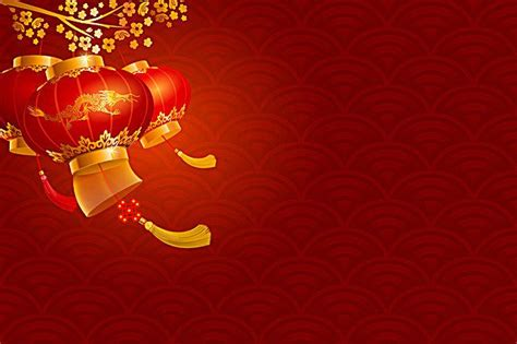 vector red chinese lanterns   background chinese