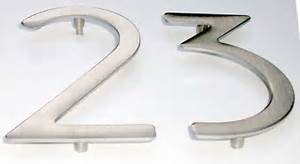 house numbers and letters brushed raw stainless steel With stainless steel address numbers and letters