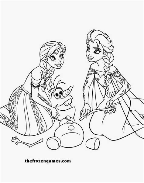 frozen coloring pages elsa anna olaf frozen coloring page