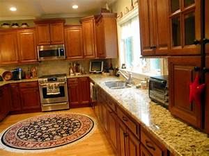 Custom Santa Cecilia Granite Kitchen Countertops - The