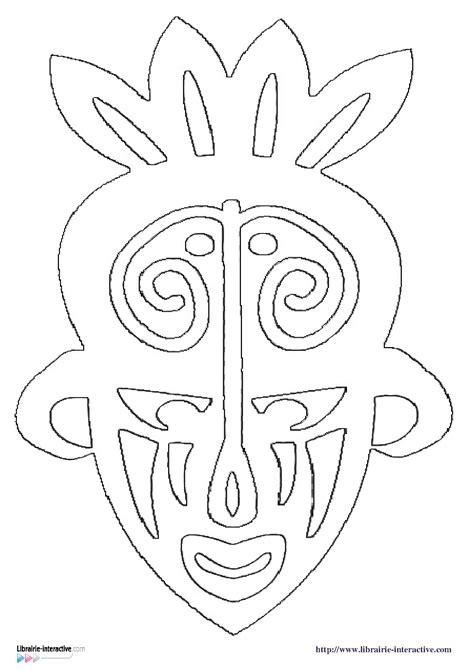 coloriage masque africain maternelle imprimer  obtenir une coloriage gratuit ici