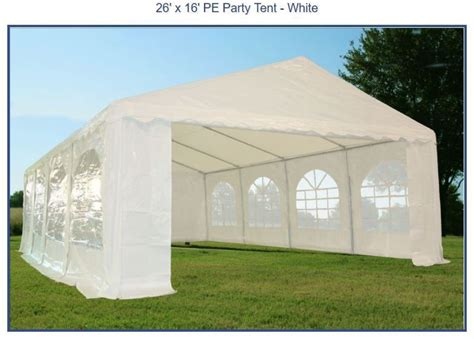 heavy duty large commercial    ft white tent canopy  shelter  ebay