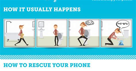 phone fell in toilet infographic how to fix a phone dropped in the toilet