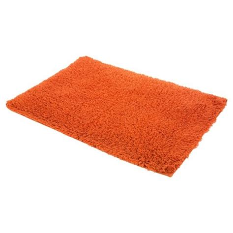 burnt orange bathroom rugs buy tesco bath mat burnt orange from our bath mats range