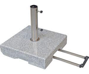 sonnenschirmständer 50 kg doppler granit schirmst 228 nder mit zuggriff 216 32 60 mm 50