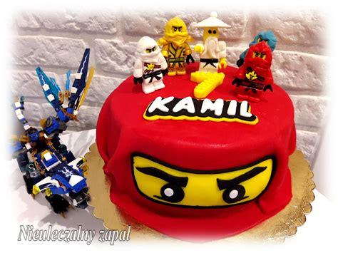 nieuleczalny zapal torty  stylu angielskim tort lego ninjago