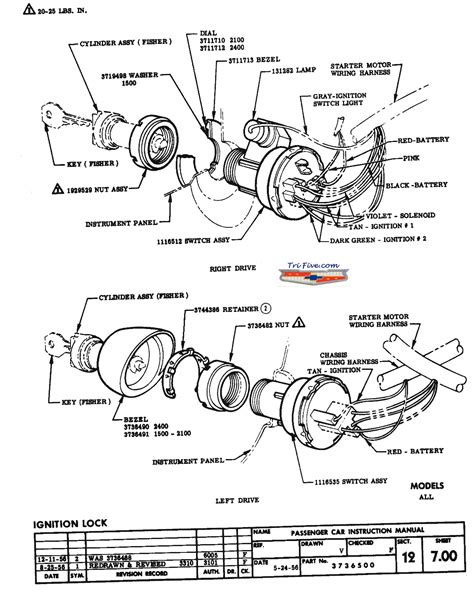 Chevy Truck Ignition Switch Wiring Diagram by 57 Chevy Ignition Switch Trifive 1955 Chevy 1956