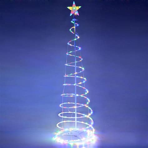 lighted christmas tree decoration 6 39 color changing led spiral tree lights outdoor indoor