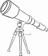 Telescope Clipart Telescopes Clip Astronomy Outline Pages Pirate Template Orbit Royalty Clipground Coloring Sketch Related Bw sketch template