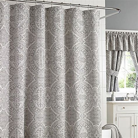 silver shower curtain j new york colette shower curtain in silver bed