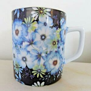 The requested url was rejected. BARNES & NOBLE 2006 Blue Floral Coffee Mug | eBay