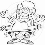 Hula Hoop Coloring Boy Cartoon Getcolorings Pages sketch template