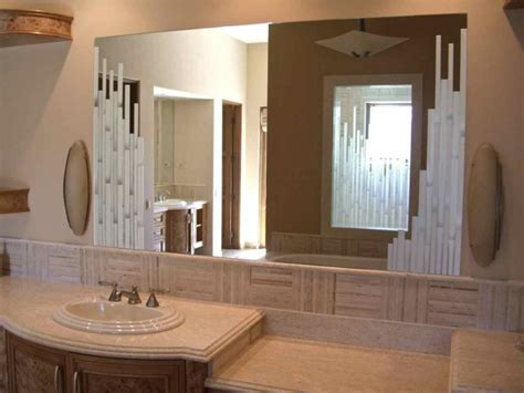 Decorative Mirrors For Bathrooms by Vertical Mosaics Decorative Mirror With Etched Carved