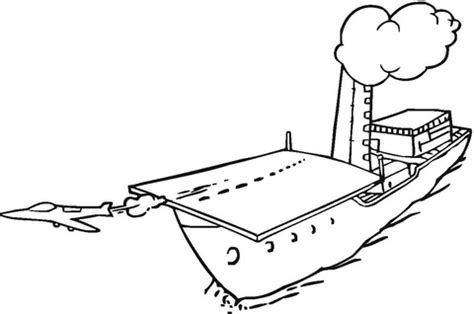 jet     aircraft carrier coloring page