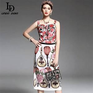 Spring Summer New Designer Runway Suit Set Women's 2 Piece ...