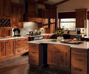 Rustic Hickory Kitchen Cabinets - Homecrest Cabinetry