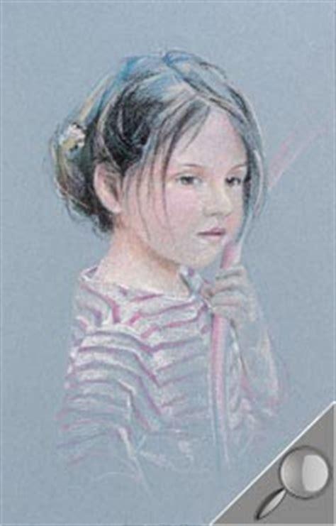 portrait de jeune fille au pastel sec latelier canson