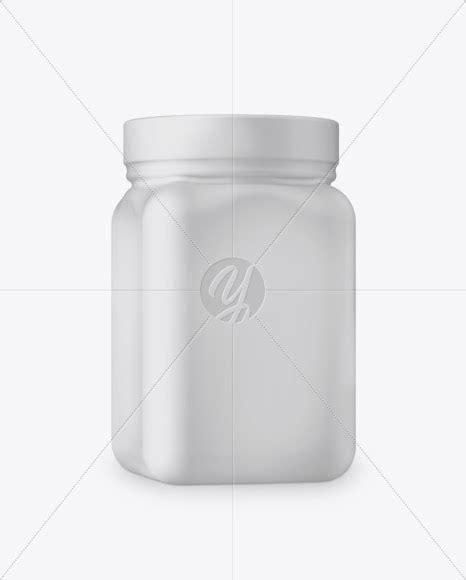 World's best curated collection of mockups for designers. Download Plastic Jar in Matte Shrink Sleeve Mockup - Half ...