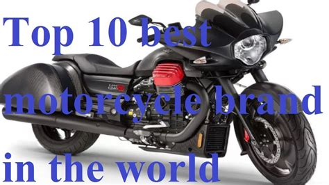 Top 10 Best Motorcycle Brand In The World 2017||best