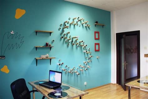 bright colors  creative wall decorations  modern office design