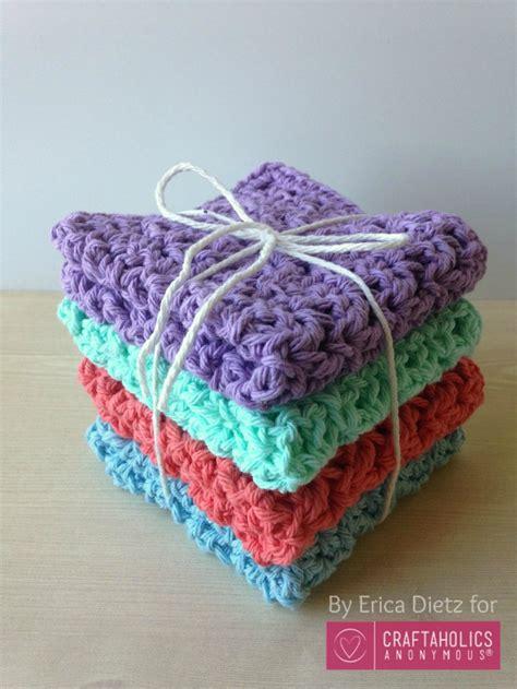 craftaholics anonymous   crochet washcloths tutorial