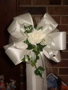 pew bows for wedding 10 ivory pew bows wedding decorations bridal