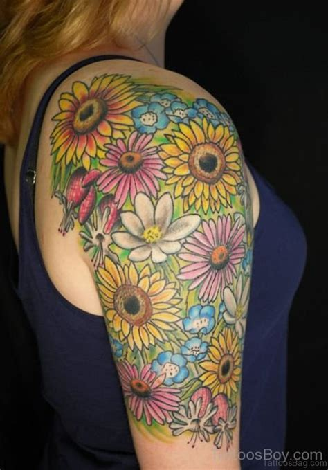stunning sunflower tattoos  shoulder