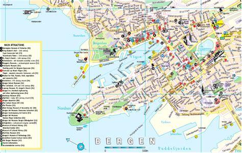Carte Touristique Du Centre De La by Escale 224 Bergen Norv 232 Ge Croisiere Tour Du Monde Info