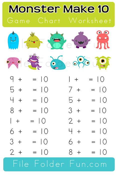 Monster File Folder Game  The Crafty Classroom