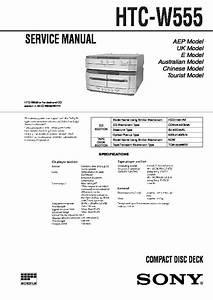 Sony Mhc-w555 Service Manual
