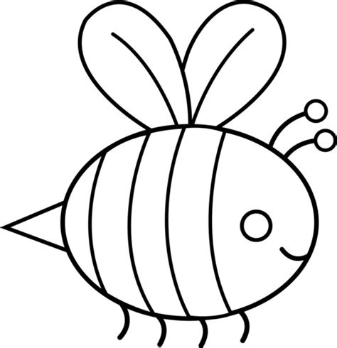 bumble bee template best bee clipart black and white 29175 clipartion