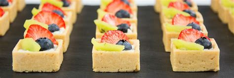canapes fruit dessert canapé catering the garden catering