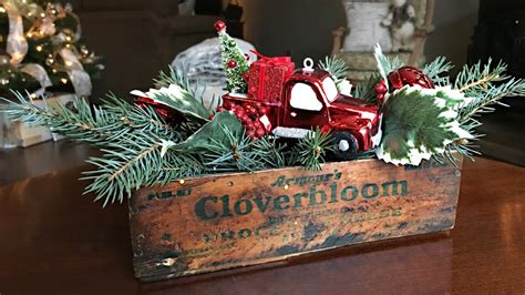 red truck christmas centerpiece diy christmas decorating