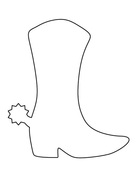 boot template cowboy boot pattern use the printable outline for crafts creating stencils scrapbooking and