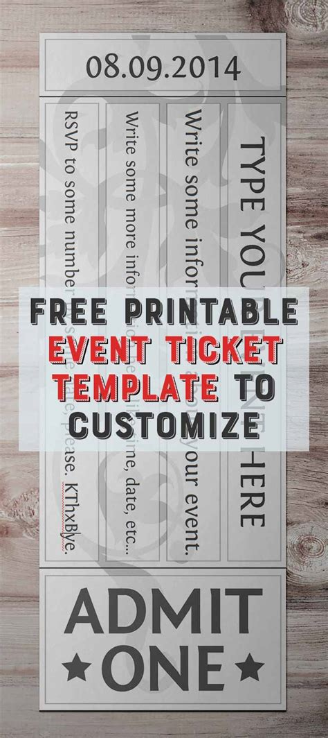 ticket templates online free free printable event ticket templates free printables online