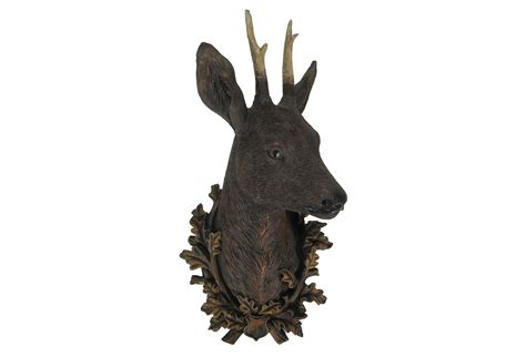 Faux Deer Head Wall Decor, Natural, From One Kings Lane Basement Bathroom Ideas How To Drill Through Tiles Replacing Vinyl Flooring With Tile In Removing Old Shower Designs Photos Remodel Small Space Tub Pictures Paints
