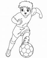 Football Colouring Coloring Soccer Colour Player Sheets 01t12 sketch template
