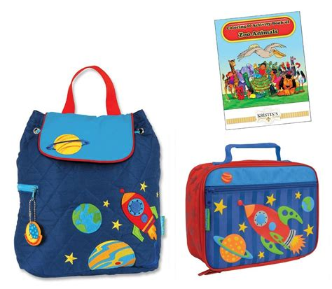 stephen joseph quilted backpack lunch box set toddler 618 | 821489769 o