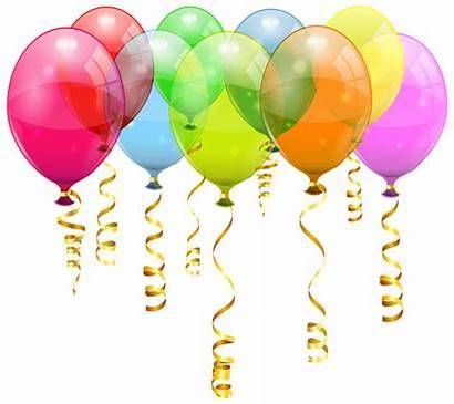 Balloons Birthday Balloon Clipart Colorful Clip Bunch